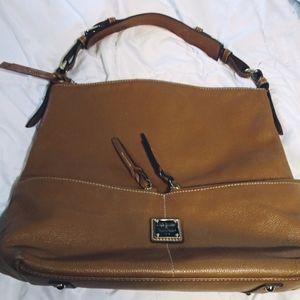 Dooney & Bourke Double Pocket Leather Satchel